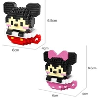 hot classic cartoon minnie mickey mouse disneyland figures cup model bricks mini micro diamond building block toys children gift
