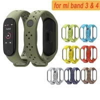 watchband for xiaomi mi band 3 4 5 6 strap replacement m3 m4 m5 m6 silicone sports straps smart accessories watchbands bracelet