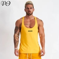 2020 summer new breathable mens racer vest jogger gyms bodybuilding mens clothing fitness exercise fashion sportswear