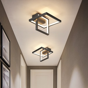 New Modern led Ceiling Lights for Bedroom Corridor aisle entrance study Black/gold Home Square round led Ceiling Lamp Fixtures
