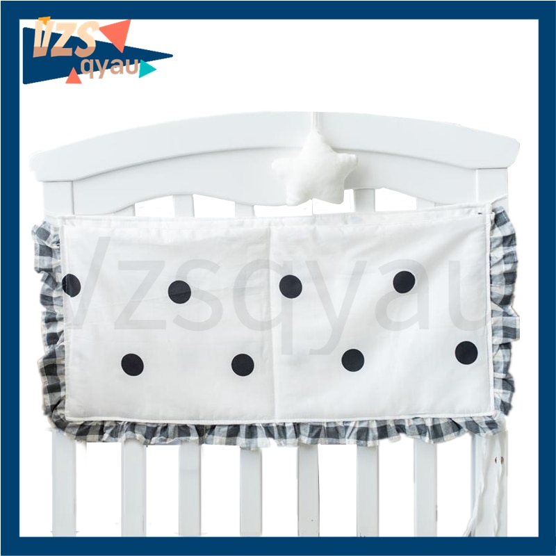 New Baby Crib Organizer Storage Bags Newbron Bedside Storage Diaper Pockets Bed Holder Hanging Bags for Infant Bedding Rails