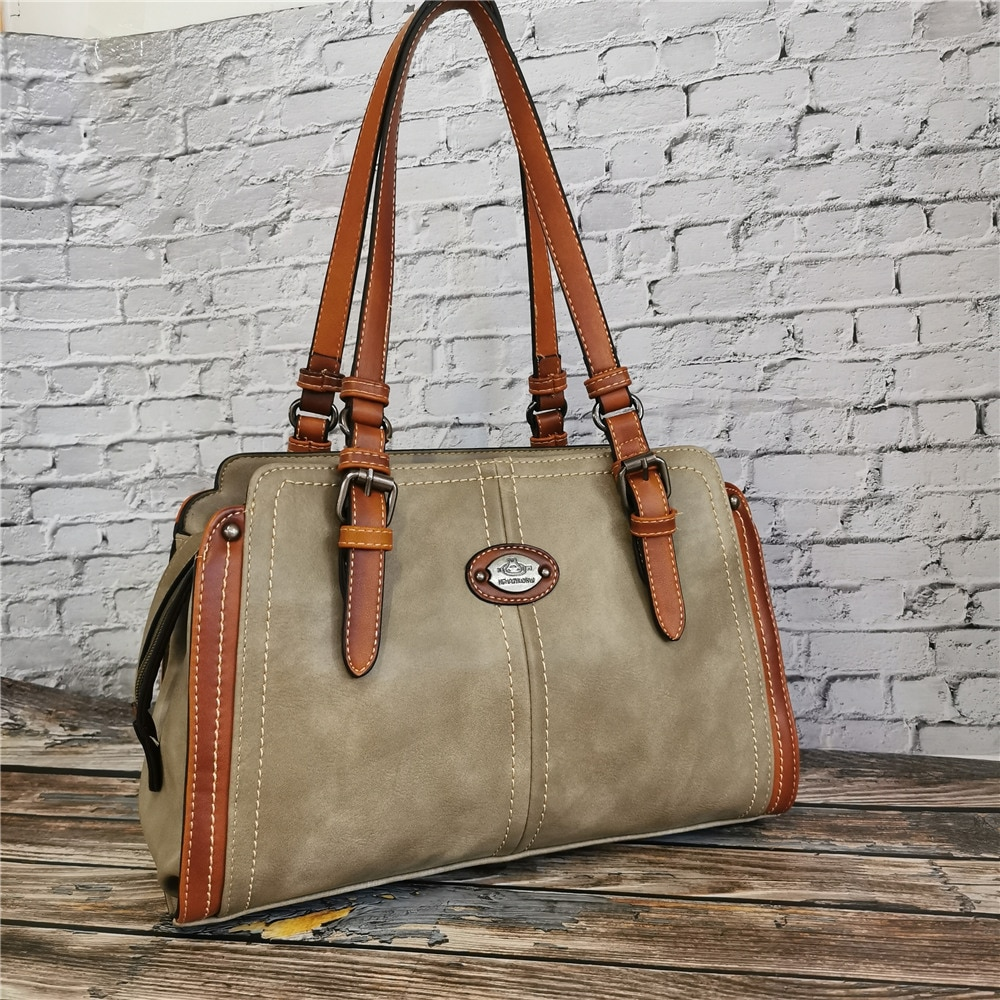Vintage Handbag Designer Women's Leather Handbags for Women Tote New Luxury Ladies Hand Shoulder Bags 2020 High Quality Purse