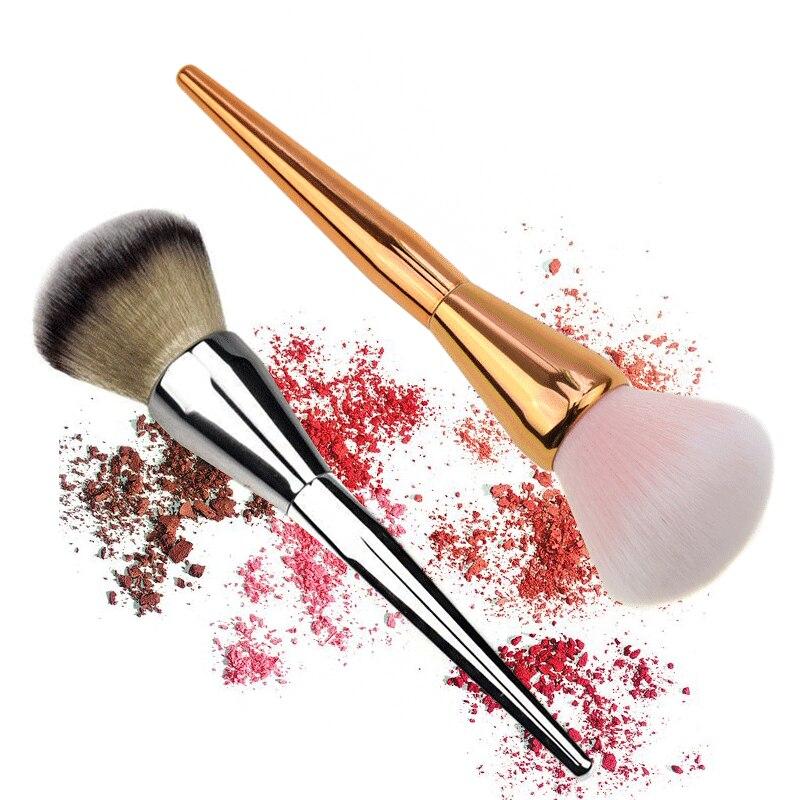 Single makeup brush large size loose powder brush rose gold plating foundation blush brush makeup beauty kit mail