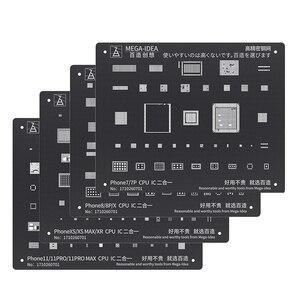 Black Steel BGA Reballing Stencil Kit for iPhone 11 11 Pro XS XS MAX XR X 8P 8 7P 7 6S 6 CPU IC Chip Tin Planting Soldering Net