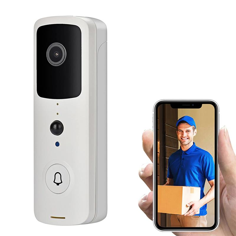 Wireless Video Doorbell 720P 166 Degree Wide Angle Visual Real-time Intercom Wi-Fi Video Bell 2-Way Talk Home Security Camera