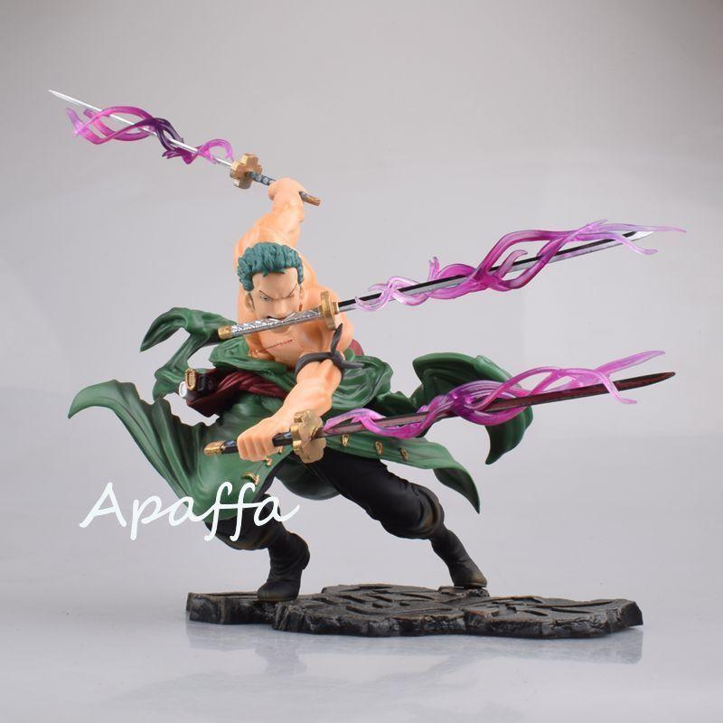 Figuras de acción de One Piece, Roronoa Zoro Santoryu Ver, 18cm Figuras de acción de juguete de PVC, modelo de colección, muñecos de regalo para niños