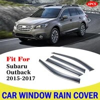 for subaru outback 2015 2017 car window sun rain shade visors shield awnings shelter protector cover trim frame accessories