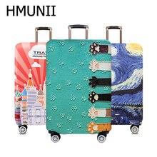 HMUNII 세계지도 디자인 수하물 보호 커버 여행 가방 커버 탄성 먼지 케이스 18 ~ 32 인치 여행 액세서리