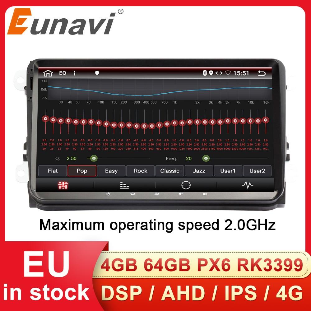 Eunavi 2 Din pour VW Passat B6 CC Polo 5 6   Autoradio stéréo multimeida, siège Android GPS sans DVD