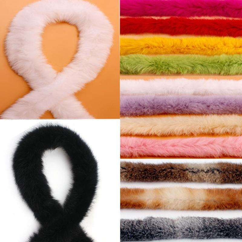 Furry Accessories Ribbon Artificial Rabbit Fur DIY Sewing Trimming Ribbon Jacket Tapes DIY Costume Crafts for Garment Edge Shoes