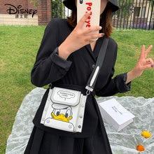 Disney Donald Duck Women Bag New Cartoon Lady Messenger Bag Shoulder Pu Girls Handbag Package Gift Phone Bag Purse Shopping Bag