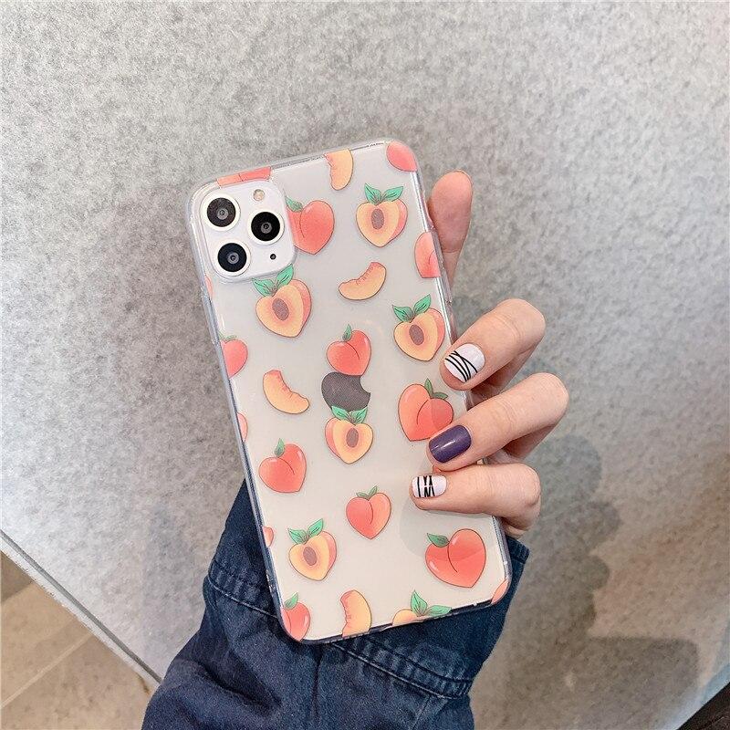 Funda de teléfono blanda de color melocotón para Huawei P20 Lite P30 Pro Mate 20 30 P smart y9 para Honor 7A 8A 8X 10 20 v20 Nova 3 4 5