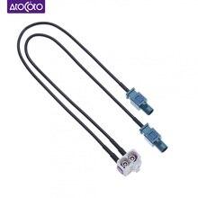 Double adaptateur de câble de Conversion dantenne dautoradio Fakra pour VW Golf 5 6 Passat EOS Jetta Touareg RCD RNS310 RNS MFD