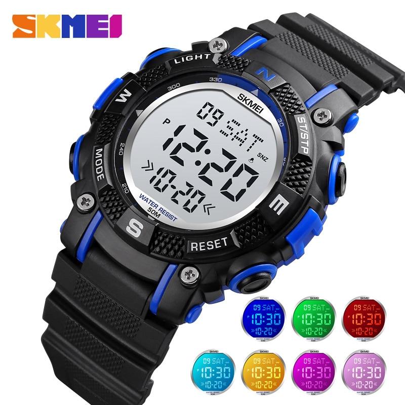 SKMEI Kids Watch Top Brand Fashion Outdoor Sport Watch Count down Stopwatch Wristwatch Fashion Girl and Boy Clock Children Watch