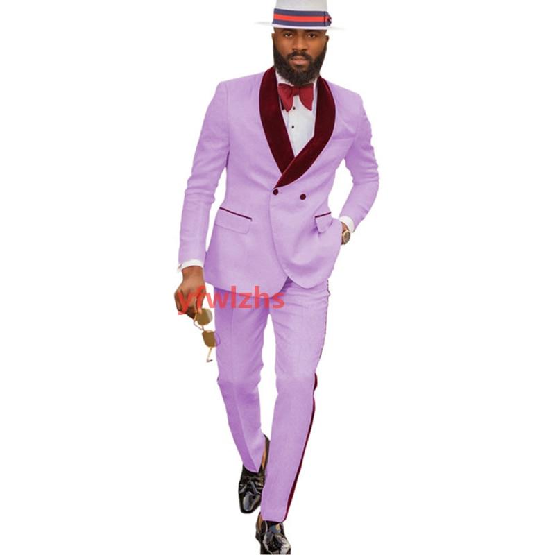 New Arrival Embossing Groomsmen Shawl Lapel Groom Tuxedos Men Suits Wedding/Prom Best Blazer ( Jacket+Pants+Tie) D07