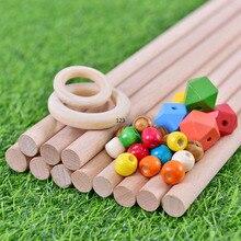 Cuentas de dentición de madera Natural anillo de madera palo niños DIY joyería de madera fabricación de artesanías atrapasueños accesorios de macramé