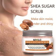 120g Shea Butter Body Scrub Cream Dead Sea Salt For Exfoliating Moisturizing Whitening Dead Skin Removal Body Care