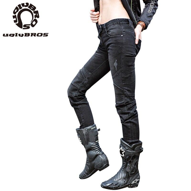 Moto rcycle jeans frauen 3 farben Uglybros Herbed Jeans schutz moto rcycle hosen pantalon moto pantalones hombre
