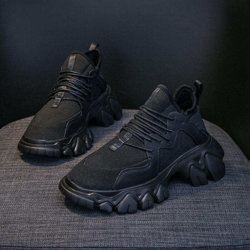 Zapatos informales, calzado deportivo, suela gruesa, color sólido, sencillos, versátiles, cómodos, duraderos, zapatillas para mujer