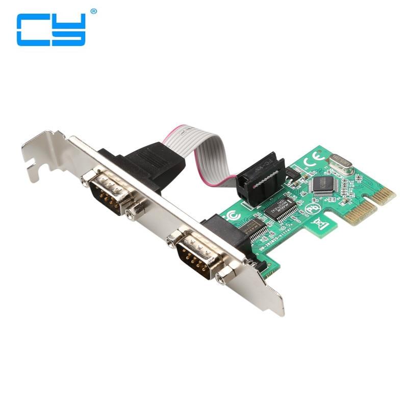 MINI PCI-E PCI Express serie Dual DB9 RS232 2 * Controlador de...