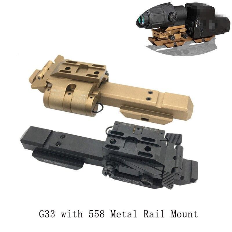 Nuevo accesorio de Paintball Airsoft G33 558 montaje de carril de Metal Wilco Scope Mount Sight Holder accesorio táctico