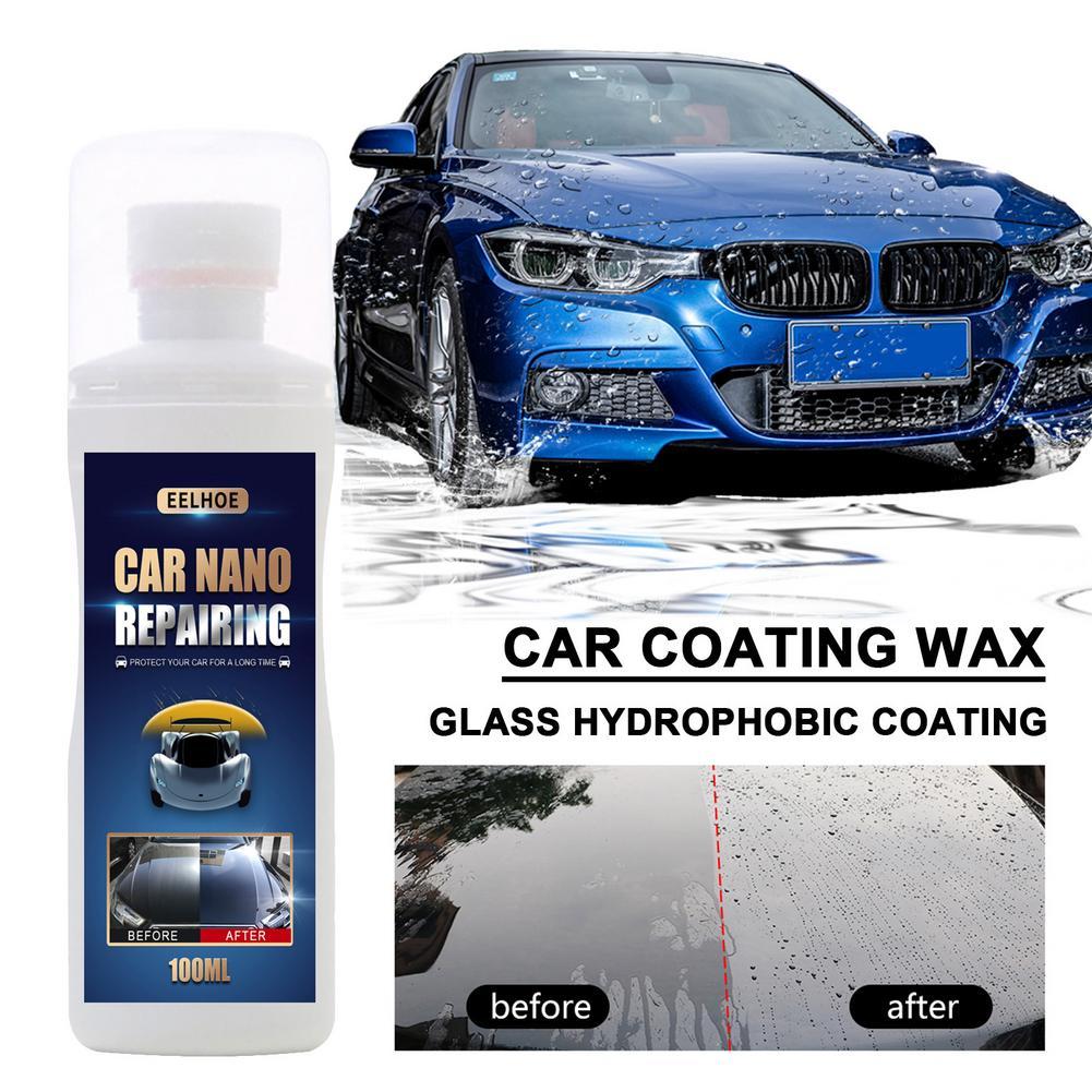 Воск для автомобильного покрытия, 100 мл, жидкий воск для отверждения, Кристальный воск против царапин, гидрофобное покрытие для стекла, сред...