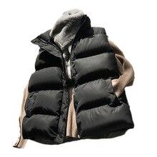 Cotton Down Vest Women 2021 Winter Loose Waistcoat All-Match Vest Jacket Cotton Padded Jacket Sleeve
