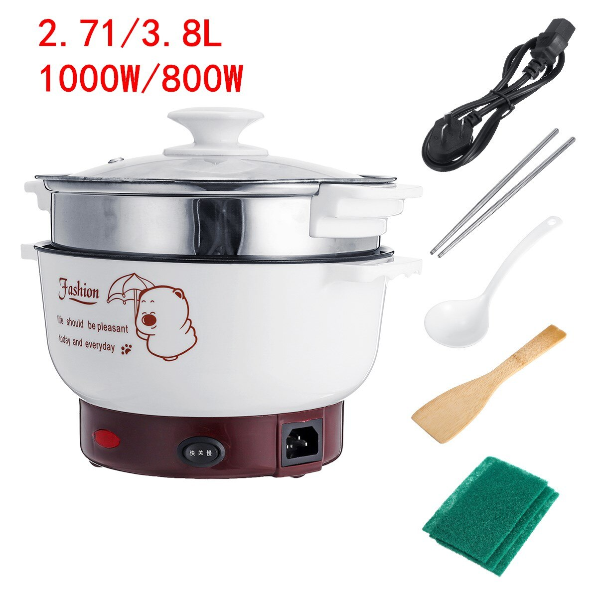 1000W 220V Mini Rice Cooker Electric cooker Multi Electric Cooking Machine Single/Double Layer HotPot  Rice Cooker Non-stick pan multifunctional rice cooker 400w low power mini household electric cooker