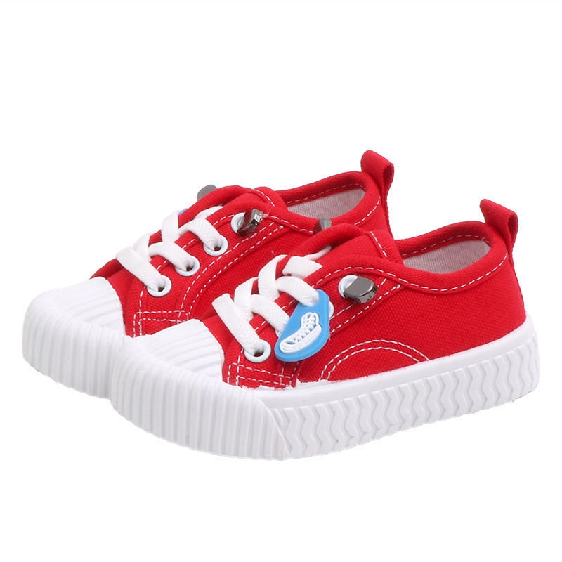 Shoes Korean New Sports Casual Spring White Children Boys and Girls Baby Rubber Toddler Canvas Board 2020 Is 8T Slip-on