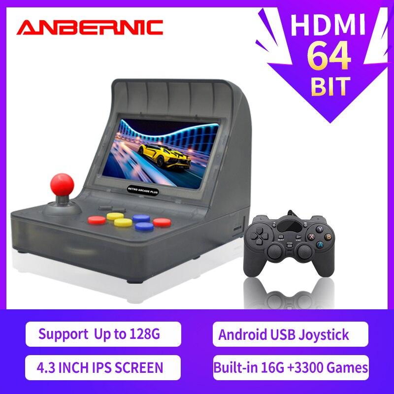 ¡Nuevo! HDMI de consola portátil de videojuegos arcade Retro, juego de TV HD RETRO, MINI Joystick familiar portátil integrado en 3000, juegos de regalo gratis