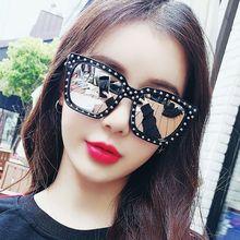 WOENFEL Fashion Rhinestone Sunglasses Women Vintage Retro Luxury Brand Sun Glasses Men Designer Squa
