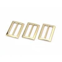 gold metal belt bucklebag regulator strap adjuster buckle bar buckle rectangle purse buckles for straps replacement handbag