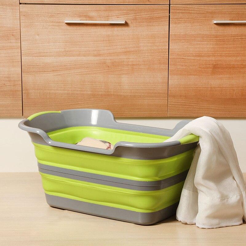 60*40*27CM multi-function folding children's tub Creative folding hamper household pet bath debris storage basket