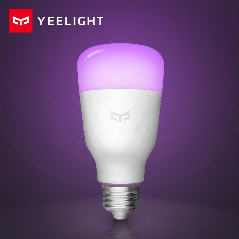 Xiaomi Yeelight Smart Led-lampe Bunte 800 Lumen 10W E27 Zitrone Xiomi Smart Lampe Für Mi Hause App Weiß/RGB Option iOS Android