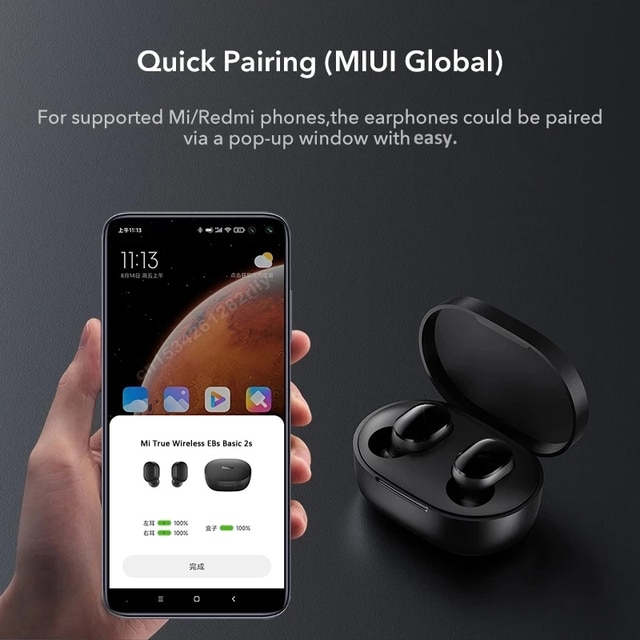 Original Xiaomi Redmi Airdots 2s Earphone Mi True Wireless Earbuds Basic 2s Bluetooth 5.0 Air2 SE TWS Mic Gaming Mode In Stock 4