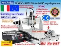 eude free ship 4 axis usb port 6040 cnc 2200w 2 2kw usb mach3 cnc router engraver engraving cutting milling machine 220vac