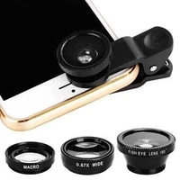 universal 3 in 1 wide angle macro fisheye lens camera mobile phone lenses fish eye lentes for all phone smartphone accessory
