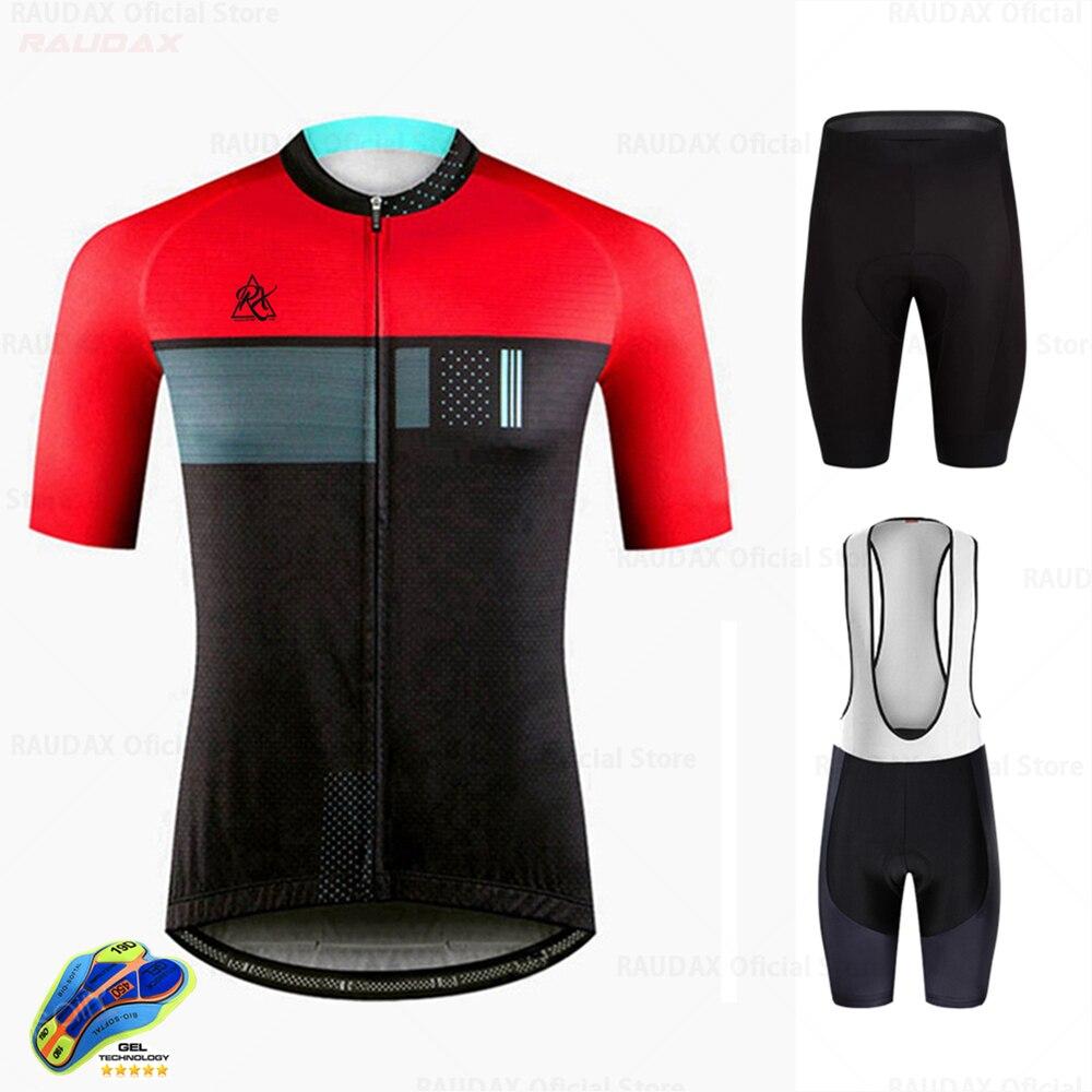 Raudax-ropa de Ciclismo para Hombre, Jersey de secado rápido para carreras deporte...