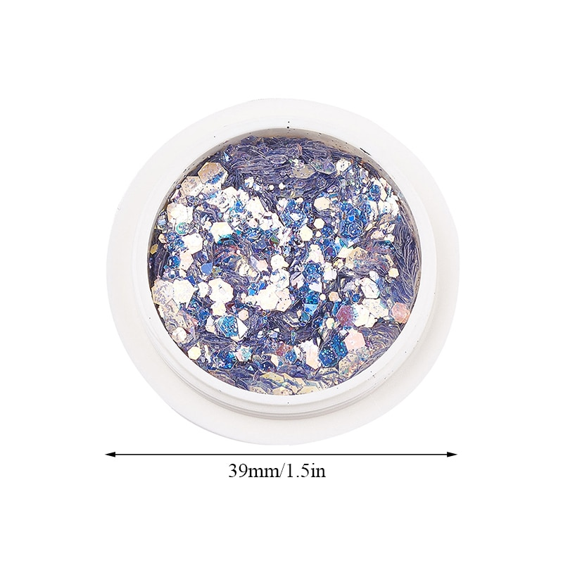 8 Colors Sequin Glitter Mermaid Makeup Face Eye Nail Beauty Nail Sequin Mix Color 3D Laser Holographic Shiny Diamond Flake