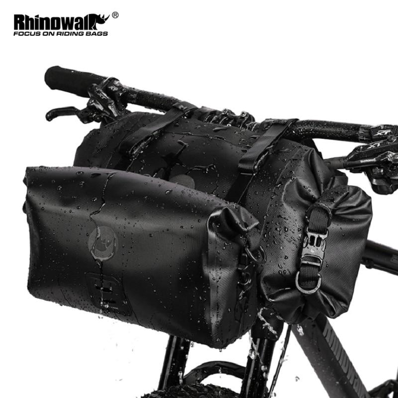 Rhowalk 2021 جديد دراجة الجبهة حقيبة 2in1 سعة كبيرة مقاوم للماء متعددة الوظائف حقيبة مقود الدراجة إطار دراجة هوائية الجبهة أنبوب الدراجات حقيبة