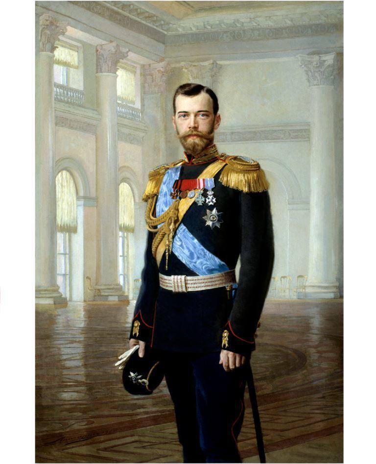 Икона портрет императора Николая Второго на дереве на левкасе