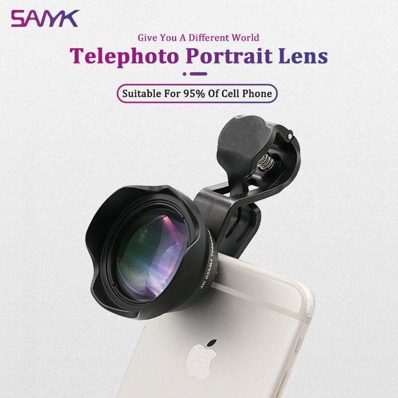 SANYK-عدسة تليفوتوغرافي HD 4K 65 مللي متر ، مع خلفية Blur ، للهاتف الذكي
