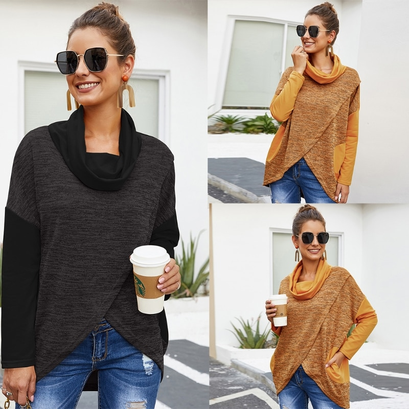 Women Long Sleeve Sweater Loose Knitted Pullover Jumper Casual Tunic Streetwear enlarge