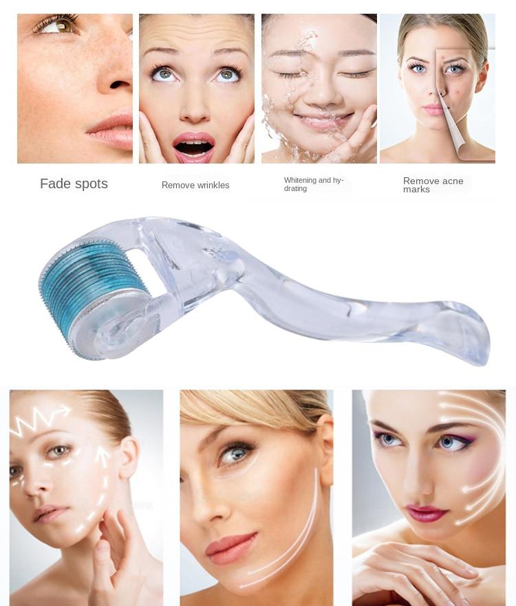 Microniddle Derma Roller Mezoroller Face Skin Care Hair Regrowth Beard Growth Anti Hair Loss Treatment Microneedle Facial Roller