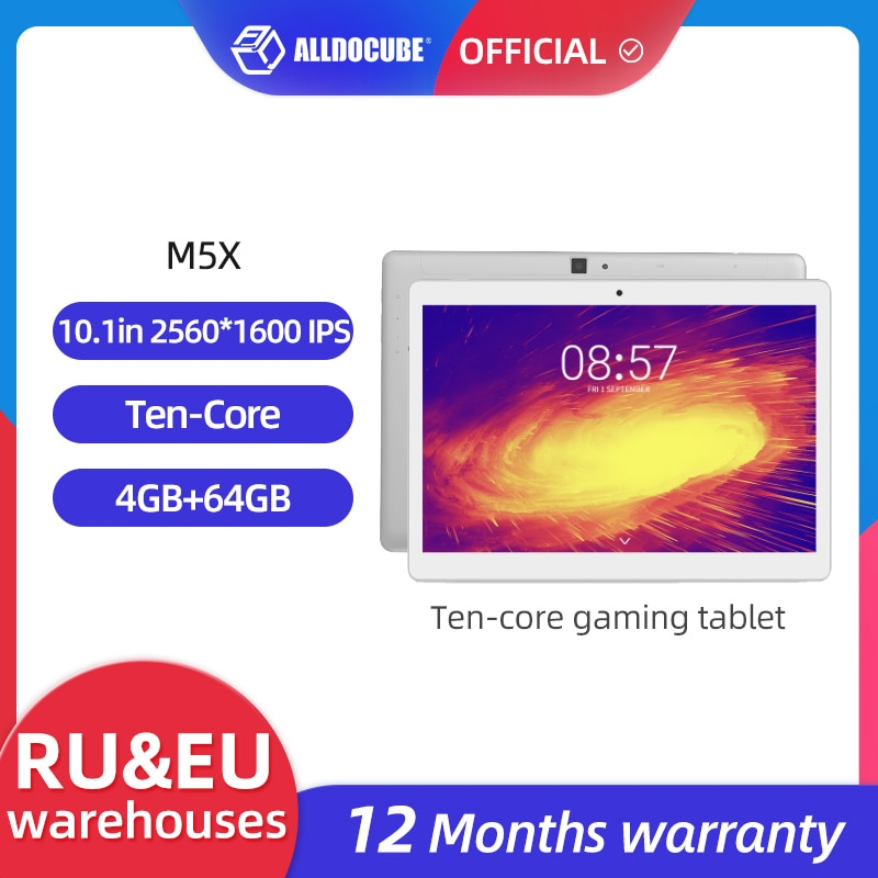 2021 new 10 8 inch tablet pc android 8 0 deca core 2560 1600 ips display 4gb 64gb tab 13mp camera 4g lte network tablet android ALLDOCUBE M5X 10.1 inch Android 8.0 Tablet 2560*1600 IPS Deca core MTK X27  4G Phone Call Dual WIFI Tablet PC 4GB RAM 64GB ROM