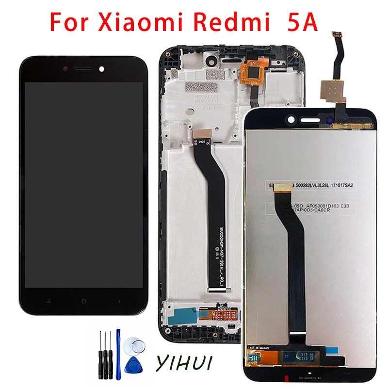 Original LCD+Frame For Xiaomi Redmi 5A LCD Display Screen Replacement For Redmi 5A Screen Digiziter Assembly AAA Quality original lcd frame for xiaomi redmi 5a lcd display screen replacement for redmi 5a screen digiziter assembly aaa quality