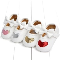 mababy 0 18m newborn infant baby girls bow shoes princess pu leather birthday party shoes soft crib shoes
