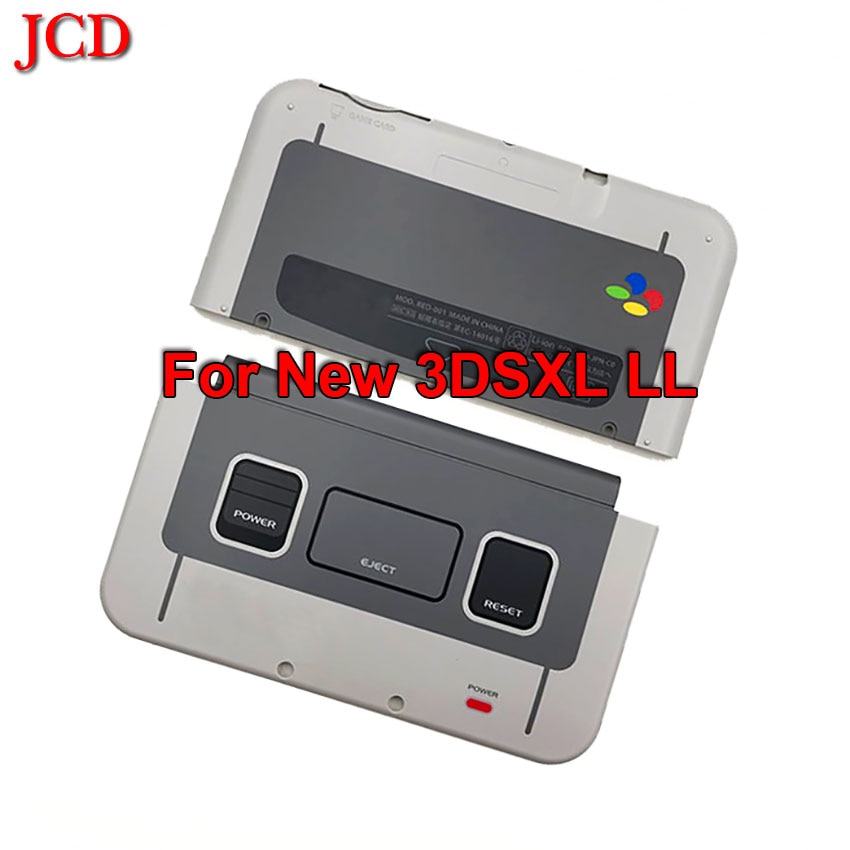 JCD para SNES limitada carcasa Shell para new 3ds xl ll 2015 espalda Placa frontal de carcasa para Nintendo New3DSXL le Shell