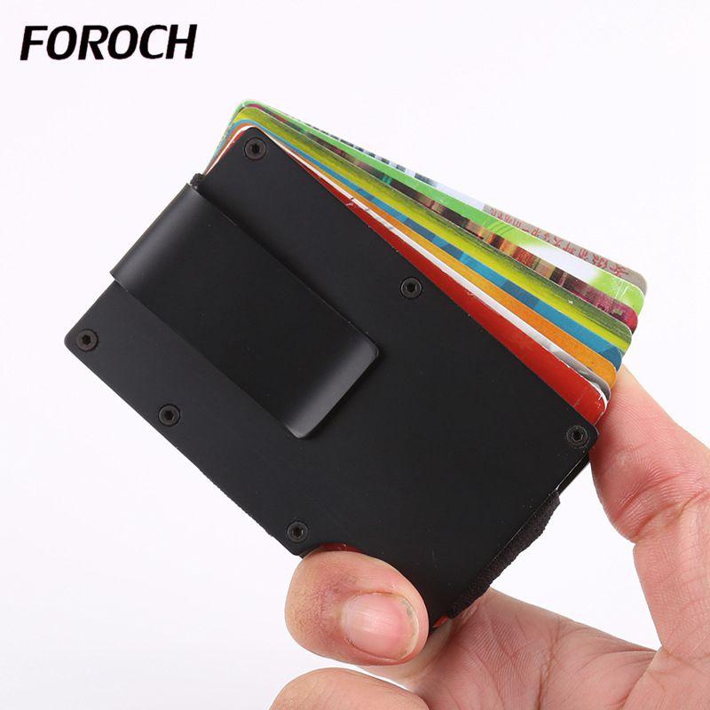 2020 Credit Card Holder Men And Women RFID Vintage Aluminium Box Fashion New Metallic Business ID Bank Card Wallet