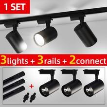 Juego completo de luces Led COB para el hogar, lámpara de pista de 20W, 30W, 40W, iluminación de riel, accesorios de aluminio para cocina, tienda de ropa
